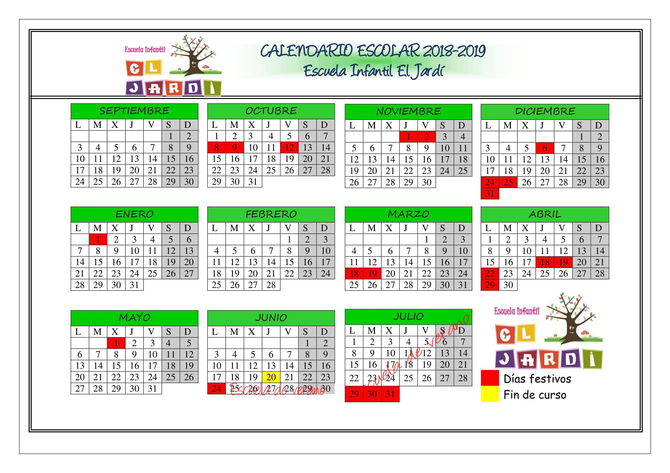 Calendario Escolar 2019 2020 Valencia.Escoleta El Jardi Escuela Infantil En La Canada Valencia